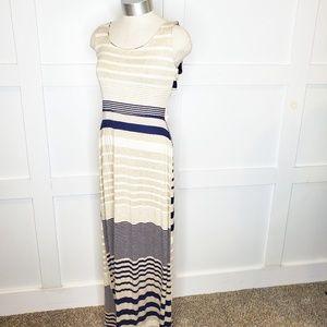 Gilli Stitch Fix Maxi Dress Open Back Blue Medium